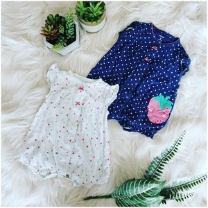 { carter's } bundle of two bubble rompers